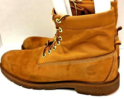 TIMBERLAND MENS WHEAT Size 12 M Basic Roll Top 6634A Nubuck Canvas Lace Boots