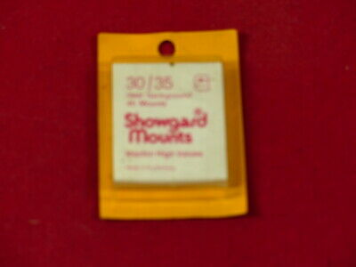 SHOWGARD Stamp mounts GARD  clear backed 30mm x 35mm per 45 NEW SURPLUS