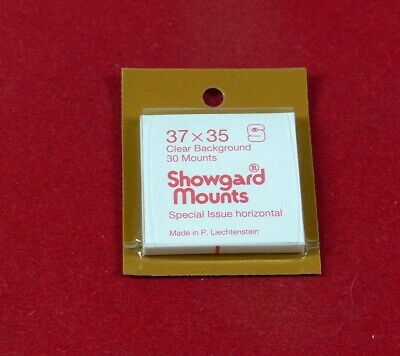 SHOWGARD Stamp mounts GARD  clear backed 37mm x 35mm per 30 NEW SURPLUS