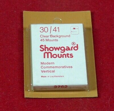 SHOWGARD Stamp mounts GARD  clear backed 30mm x 41mm per 45 NEW SURPLUS