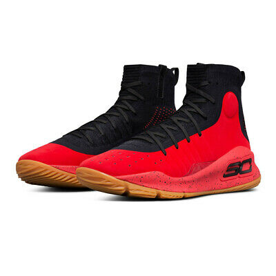 939c5f47a6d1 Under Armour Mens Curry 4 Basketball Shoes Black Red Sports Breathable