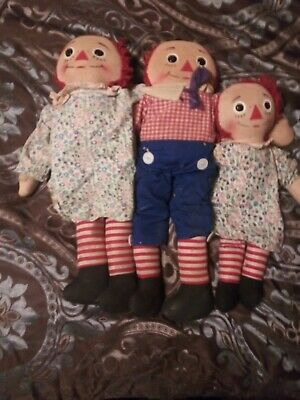 RAGGEDY ANN AND andy dolls vintage collectable antique rare old Ann Andy