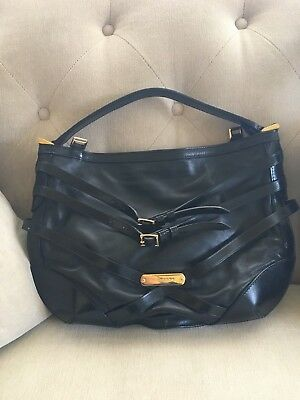 Burberry Gray Leather