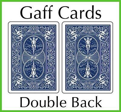 Singola Carta Bicycle Gaff Cards dorso Blu fronte Bianco US2212