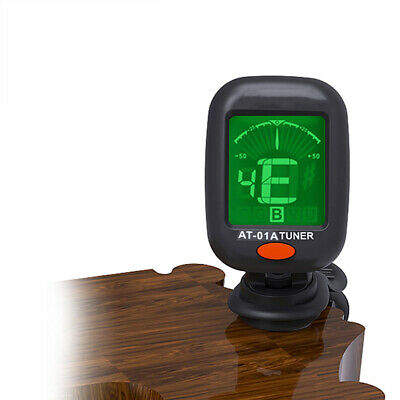 Digital LCD Clip-On Electric Tuner For Acoustic Bass Guitar Ukulele Violin W9K7Z