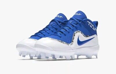 806ce0b50f1 Nike Force Air Trout 4 Pro Baseball Cleats Blue white Men s Size 9 - 917920