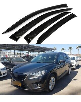 For Mazda 2 II Hb 2008-2014 Window Side Visors Sun Rain Guard Vent Deflectors