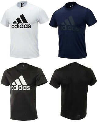 Adidas Men MH BOS T-Shirts S/S Jersey White Training Casual Tee GYM Shirt DV0958