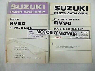 SUZUKI RV90 VAN VAN 1975 CATALOGO RICAMBI manuale SPARE PARTS CATALOG CATALOGUE