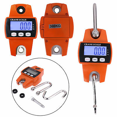 300kg 0.1kg Electronic Portable Mini LCD Crane Scale Weight Digital Hanging Hook