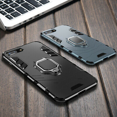 Heavy Duty Kickstand Finger Ring Armor Hybrid Cover for iPhone X XS MAX 8 7 Plus