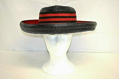 fe9648943b6 PLAZA SUITE BY Betmar Womens Black red 100% Straw Hat -  74.99 ...