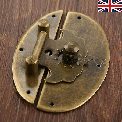 UK STOCK Vintage Wooden Cabinet Chest Latch Hasp Jewelry Box Lock Clasp Hardware