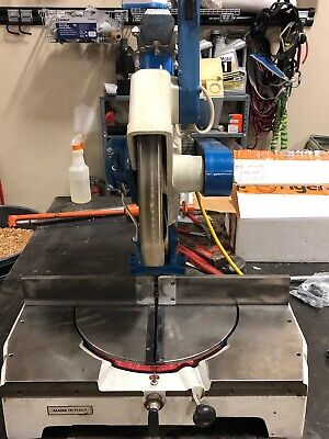 """OMGA T50 350 Heavy Duty Cast Iron Miter Saw.   3hp/14"""". 2005. Excellent."""