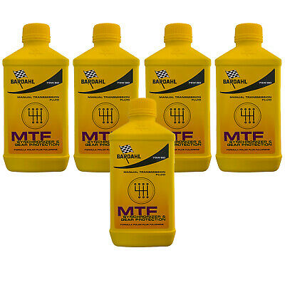 5 Lt Aceite Coche Bardahl Bardhal Mtf 75W80 GL4 Transmisiones Manuales