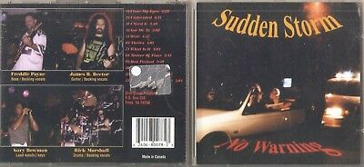 SUDDEN STORM No Warning CD 1995 CANADA 1 PRESS RARE