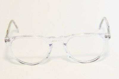 f1f1f4b761c Warby Parker Haskell Eyeglass Frames Crystal Clear Demo Lenses 49-22-145 New