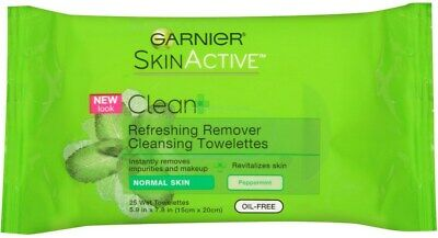 Garnier Clean+ Refreshing Makeup Remover Peppermint 25 Count