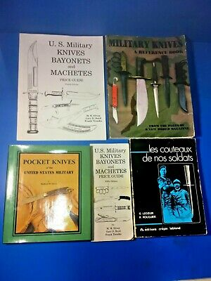 Military Knife Collectors Lot Of Refrence Books