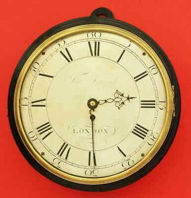Early English Georgian 8 Day Verge Fusee Dial Clock Signed Tho Langford London