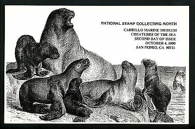 US FDC #2508-2511  Related 2nd Day Program 1990 San Pedro CA Sea Creatures