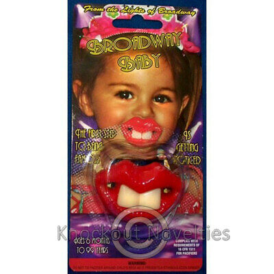 Broadway Baby Pacifier Funny Novelty Cute Binky Baby