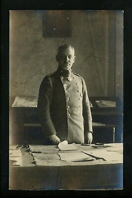 Military real photo postcard RPPC SET OF 2 WWI Soldier in uniform w/ newspaper