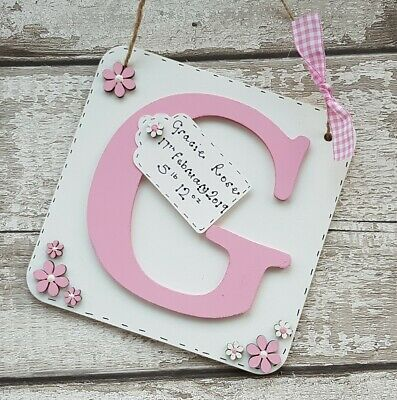 personalised christening / new baby / newborn gift handmade wooden letters gifts