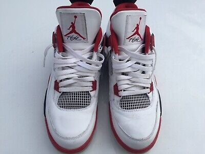 pretty nice 58635 4e90d NIKE AIR JORDAN IV 4 Retro Size 11 Men 308497 165 White Varsity Red Black