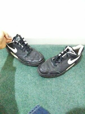 buy online 32a5d 35a5b Vintage 1991 Nike Quantum Force Low Top Shoes Sneakers Size 12 Black White  OG