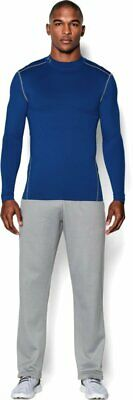 Under Armour Men's ColdGear Armour Compression Mock Royal/Steel LARGE BRAND NEW