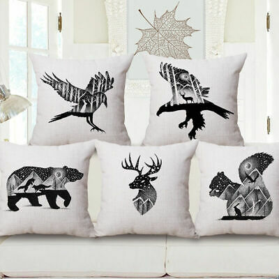 Hot Noverty Animal in Picture Pattern Decorative Throw Pillowcase Cover Cushion