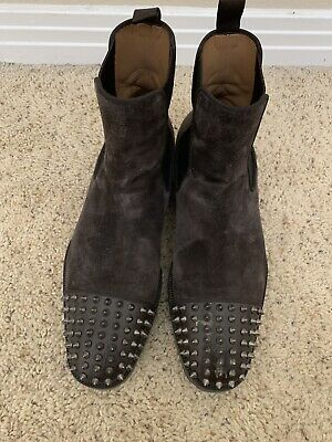 the best attitude 11fe6 a16a6 100% AUTH 18FW Christian Louboutin Mens Melon Spikes Flat Black Size 41/US 9