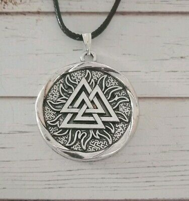 VIKING SYMBOL NORSE Thor Odin Pagan Celtic Rune Pendant Necklace