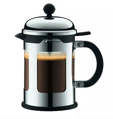 NEW BODUM Chambord 8 Cup French Press Coffee Maker Chrome Locking Lid Cafetiere