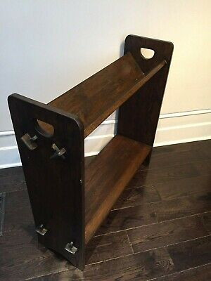 RARE FIND! Vintage Stickley Style #74 V-Trough Book Rack (reproduction)