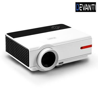 Devanti Smart Full HD 1080P Android Video Projector Home Cinema Theatre WiFi Blu