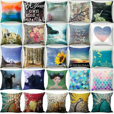 Throw Pillow Case Waist Cushion Covers  Flower Sofa Chair Decor Pillowcase
