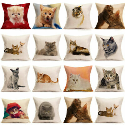 Animal Pillow Covers Case Pet Cushion Cover for Home Car Decorations Pillowcase