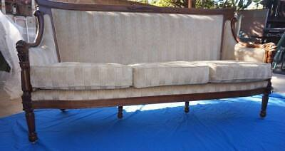 Antique Early 19th Century American Federal Sofa Flamed