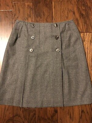 6b92086093 Brooks Brothers Women's Size 6 Gray Pencil Skirt 100% Wool with Buttons &  Lining