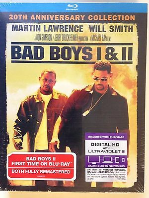 Bad Boys 1 & 2 (Blu-ray  2-Pack, 2015, 2-Disc Set )Includes HD UV (NEW)