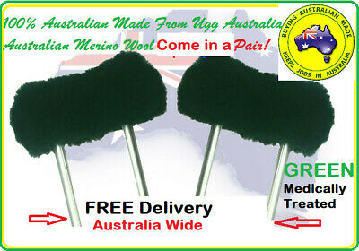 Underarm Crutch Covers Pads Green 100% Merino Wool Brand New FREE Delivery