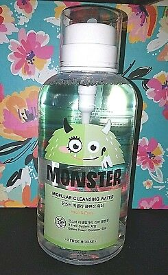 Etude House MONSTER MICELLAR CLEANSING WATER Face Cleanser JUMBO 700mL Pump SEAL