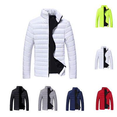 f2e1f849fac Mens Winter Warm Cotton Down Padded Bubble Puffer Jacket Coat Parka Outwear  Tops