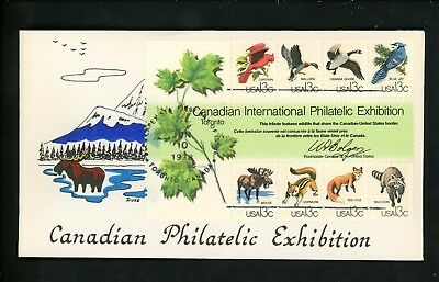US FDC #1757 Duke Hand Colored HC H/C 1978 Toronto ON Canada CAPEX 78 Animals