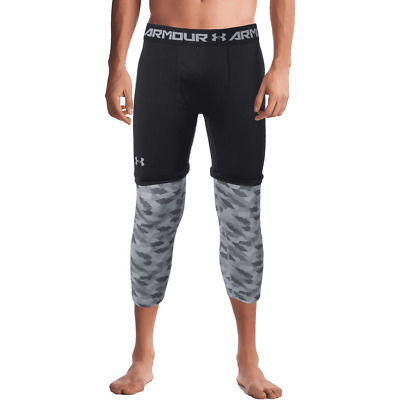 408909f23a5df NWT $50 Under Armour SC30 Curry Men's Black/Grey Compression Tights 1285007  2XL