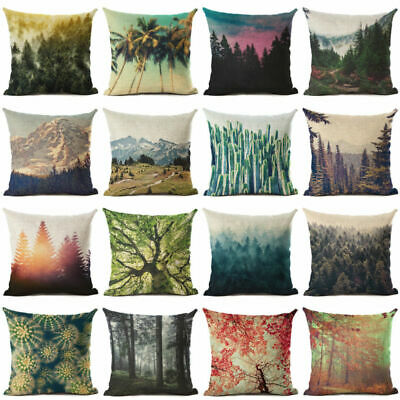 Natural Scenery Cotton Linen Pillow Case Cushion Cover Fashion Home Decor Gift