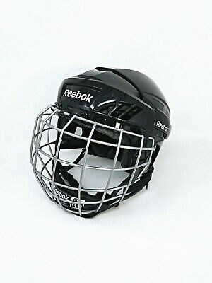 e69015a3afb Reebok 3K Youth Hockey Helmet w Face Cage   5K Chin Protector Size S  Adjustable