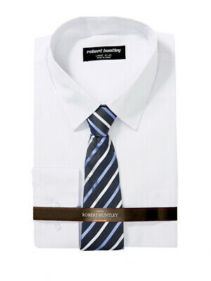 Huntley Business Shirt And Tie White